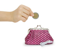 Change purse isolated on white background Stock Photography
