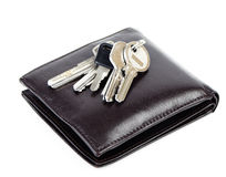 Change purse and key Stock Images