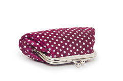 Change purse  on white background Royalty Free Stock Photos