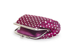 Change purse  on white background Royalty Free Stock Photography