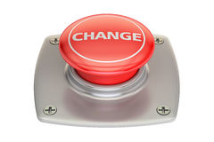 Change Red button, 3D rendering Royalty Free Stock Photo
