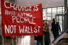 Change Is Representing People Not Wall Street Stock Photography
