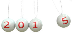 2014-2015 change represents the new year 2014.  Stock Photo