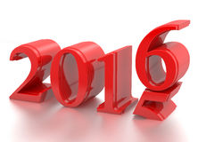2015-2016 change represents the new year 2016 Royalty Free Stock Photo