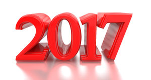 2016-2017 change represents the new year 2017. 3d 2017. 2016-2017 change represents the new year 2017, three-dimensional rendering Royalty Free Stock Photography