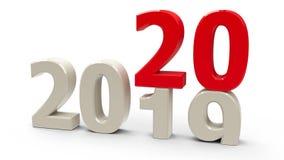 2019-2020 stock illustration