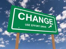 Change road sign Royalty Free Stock Photos