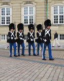 Change of Royal Guards at Amalienborg Castle in Copenhagen, Denmark Stock Photo