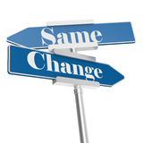 Change and same signs stock illustration