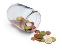 Change saving jar Stock Photo