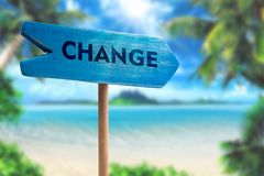 Change sign board arrow stock photos