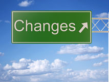 Change Sign Royalty Free Stock Photography