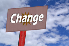 Change Signpost Royalty Free Stock Photography