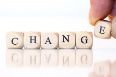 Change, spelled with dice letters Stock Photography