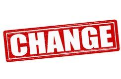 Change. Stamp with word change inside,  illustration Stock Images