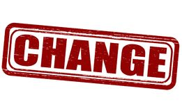 Change. Stamp with word change inside,  illustration Stock Photos