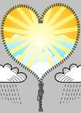 Sun and clouds. Change sun and clouds, illustration Royalty Free Stock Photos