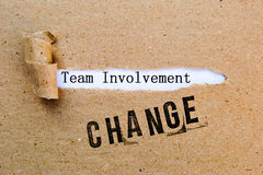 Change - Team Involvement - successful strategies for change Royalty Free Stock Image