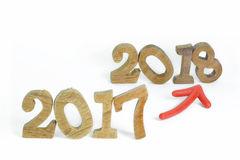 Change to new year 2018 Royalty Free Stock Image