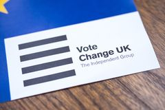 Change UK Political Party royalty free stock photos