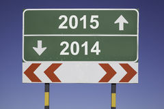 Change of year 2015 Stock Photo
