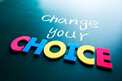 Change your choice concept royalty free stock photos