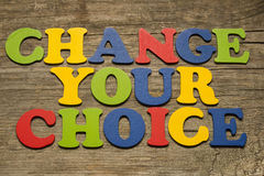 Change Your Choice Concept Stock Image