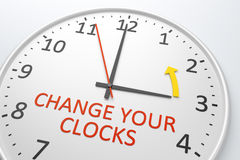 Change Your Clocks Stock Photo