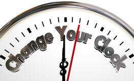 Change Your Clocks Turn Hands Back Forward Time Royalty Free Stock Images