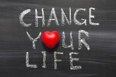 Change your life royalty free stock photos