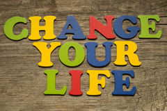 Change your life concept Stock Images