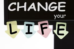 Change Your Life Concept royalty free stock image