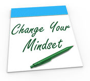 Change Your Mind set Notebook Shows Optimism Royalty Free Stock Images