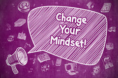 Change Your Mindset - Business Concept. Stock Images