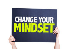 Change Your Mindset card isolated on white Stock Images