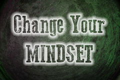 Change Your Mindset Concept. Text Royalty Free Stock Images