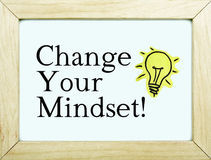 Change Your Mindset / Inspiration Innovation Concept Royalty Free Stock Photography