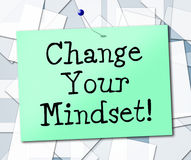 Change Your Mindset Means Think About It And Thinking. Change Your Mindset Representing Think About It And Thinking Royalty Free Stock Photos