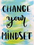 Change your mindset motivational message Royalty Free Stock Images