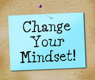 Change Your Mindset Represents Think About It And Reflect. Change Your Mindset Indicating Think About It And Reflect Plan Royalty Free Stock Photo