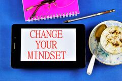 Free Change Your Mindset - To Change The Quality Of Life. Cope With Fear, Think Positively, Search For New Opportunities And Achieve Royalty Free Stock Images - 169619519