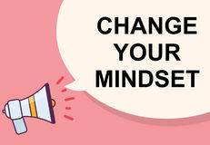 Change your mindset word with megaphone illustration graphic des. Ign Royalty Free Stock Images