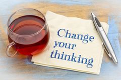 Change your thinking advice Royalty Free Stock Photography
