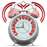 Change your vision. The alarm clock with an inscription Stock Photos