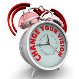 Change your vision. The alarm clock with an inscription Stock Images