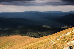 Changeable weather in mountains Stock Photography