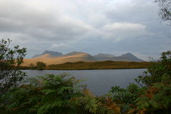 Changeable weather. South of Knockan, Cul Beag and Cul Mor Stock Photo