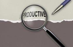 Changeant le mot improductif pour productif Photographie stock libre de droits