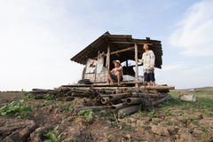 Changement climatique chez l'Asie images libres de droits