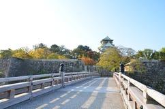 Changement de couleur d'automne Japon au château d'Osaka Photo libre de droits